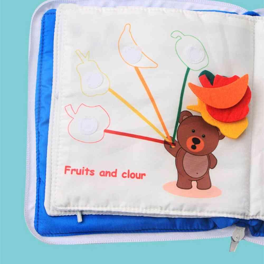 Soft Washable 3d Parent-children Interactive Educational Quiet Books