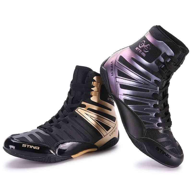 Boxing Shoes Men Black Breathable Wrestling Shoes
