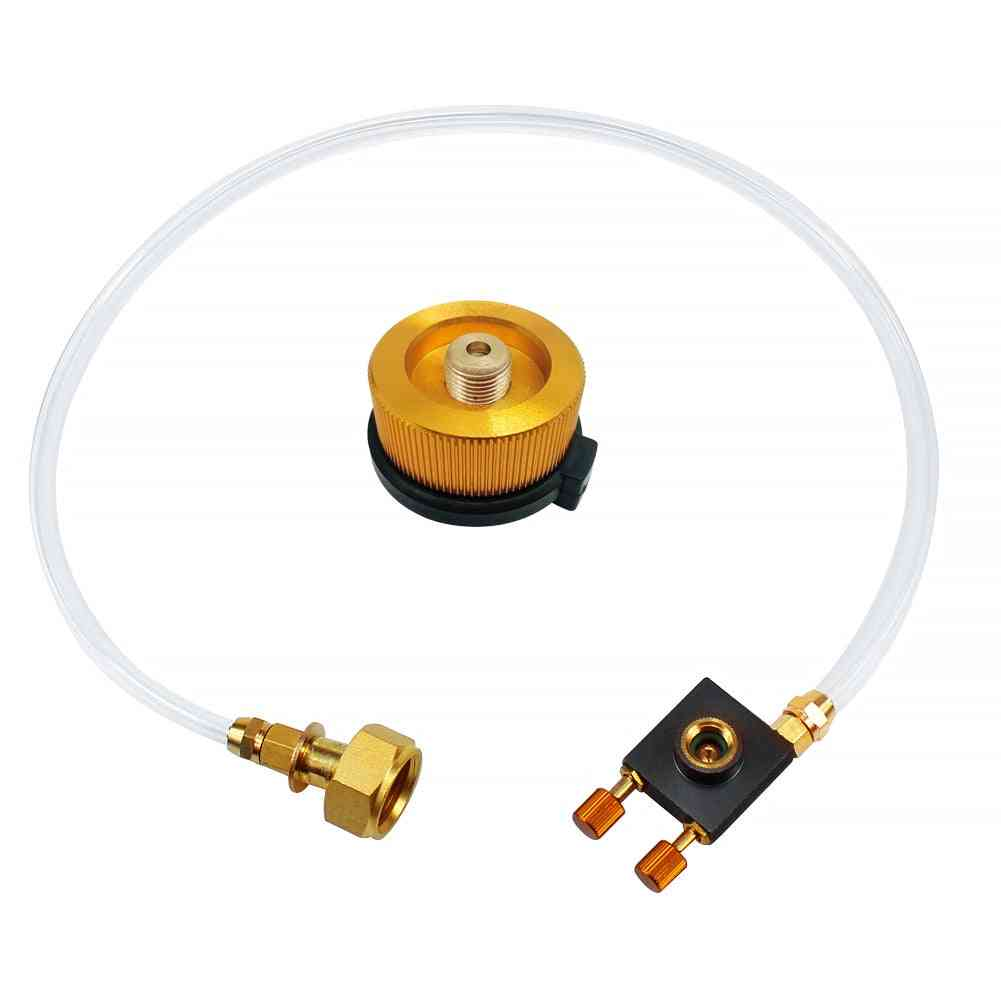 Camping Gas Stove Propane Refill Adapter Gas Flat Cylinder Tank