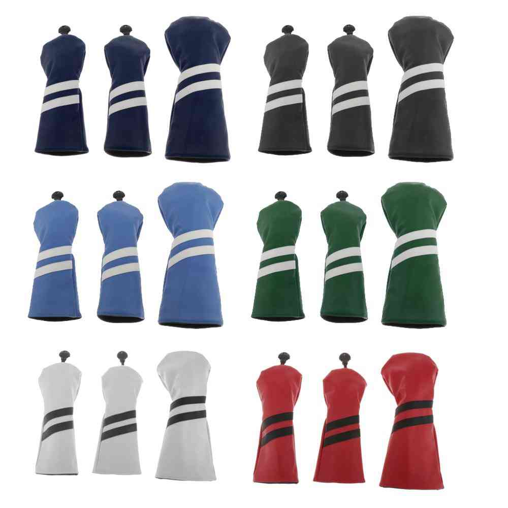 Driver Wood Head Cover With No. Tag Waterproof Golf Head Cover