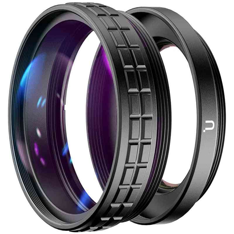 Wl-1 18mm Wide Angle Lens 10x Hd Macro 2-in-1 Additional Camera Lens