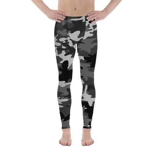 Men's Premium Gray Camo Leggings