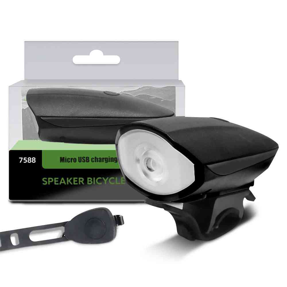 Horn Rechargeable Bike Light Waterproof Biking Headlight Flashlight Sp