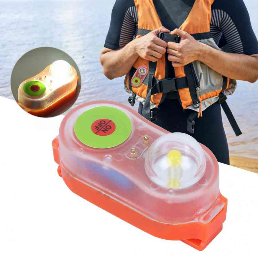 Surfing Life Jacket Light Led Lithium Life Vest Light Seawater Self-lighting Life Saving Flashlight Conspicuous Attract Light