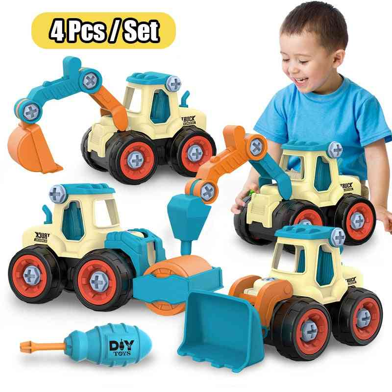 Nut Disassembly Loading Unloading Engineering Vehicles Kids Screw Creative Tool Education