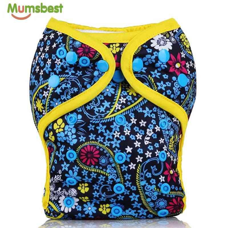 [mumsbest] Baby Diaper Cover Double Gussets Reusable Cloth Nappy Cover Wrap To Use With Flat Or Fitted Nappy Diaper Covers