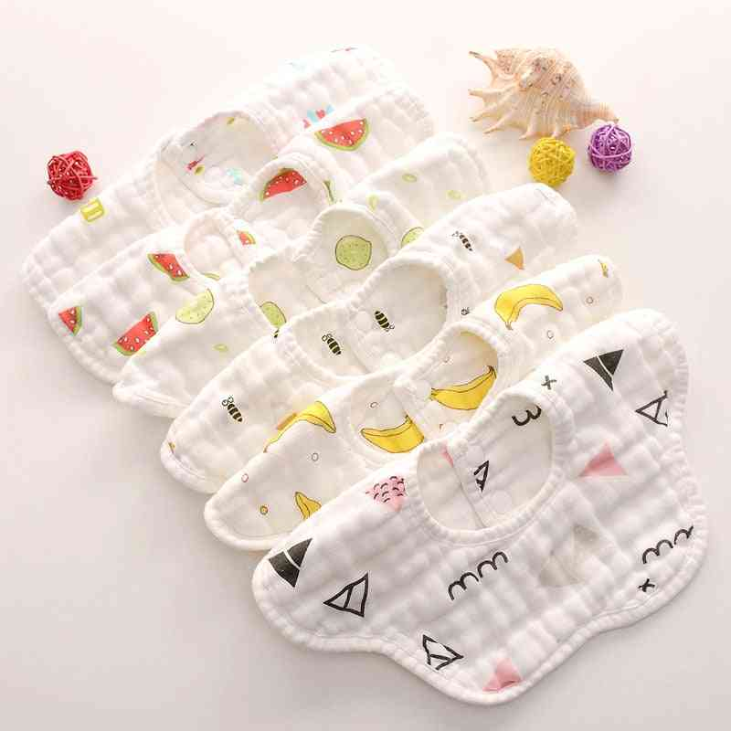 8 Layers Gauze Muslin Baby Cotton Bibs
