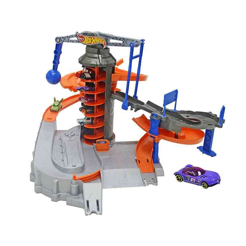 Hot Wheels City Adventure Electric Zone Chaos  Track Set Dpd88