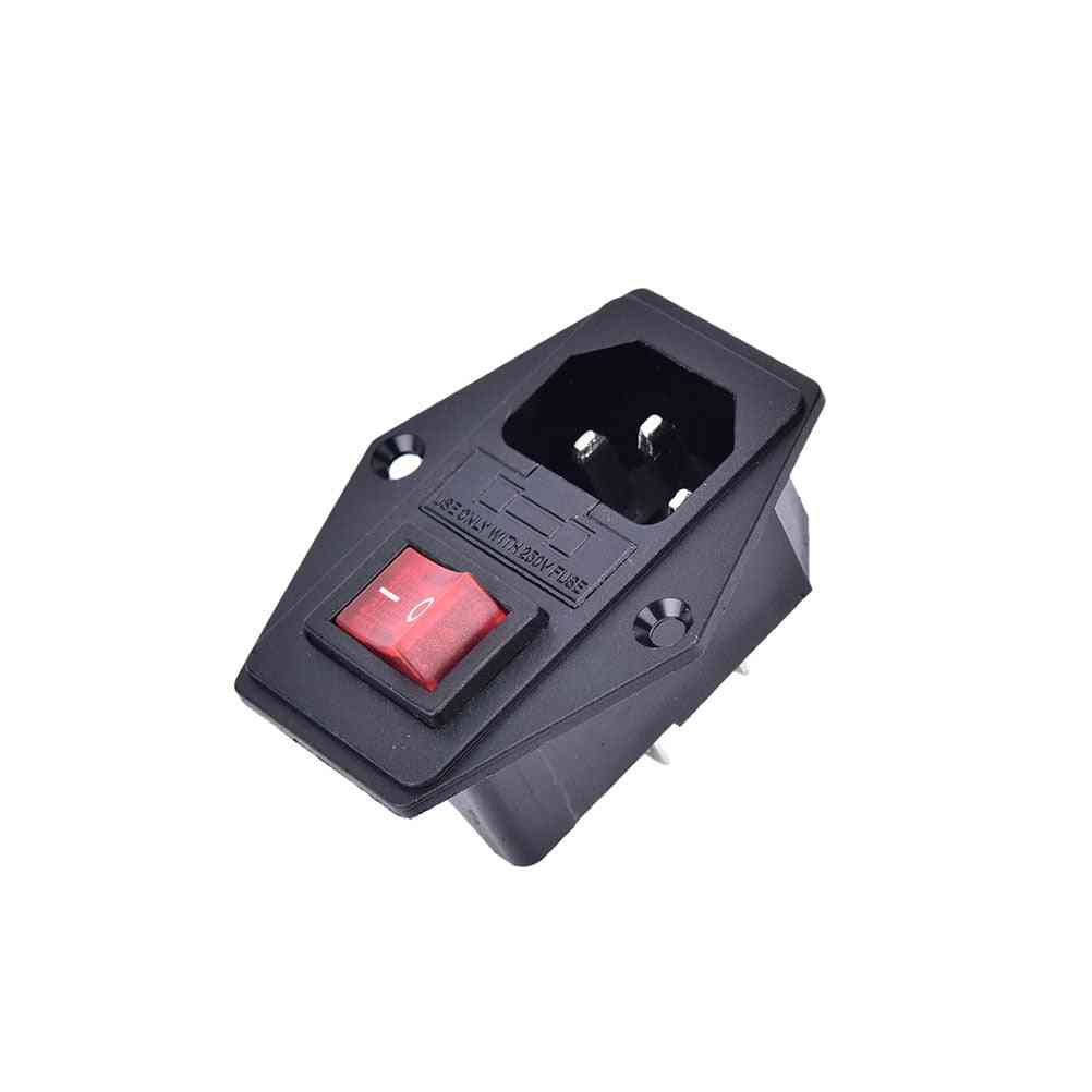 Switch Socket With Female Plug For Power Supply