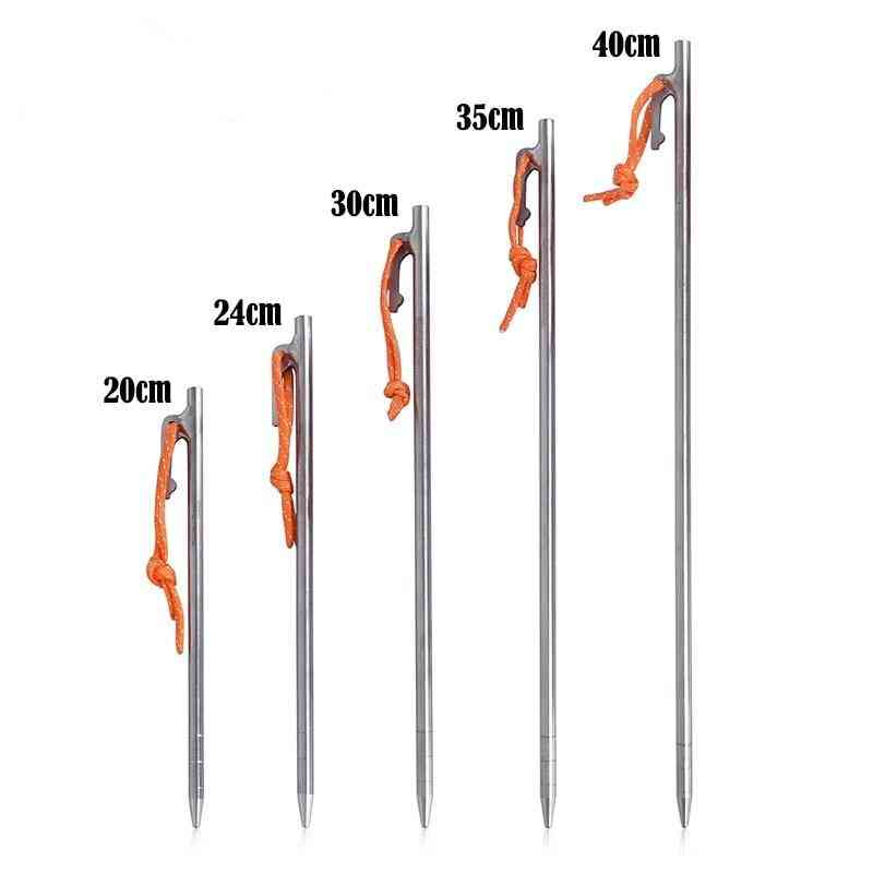 Camping Tent Nails Stakes Boundless Voyage Titanium Tent Pegs.
