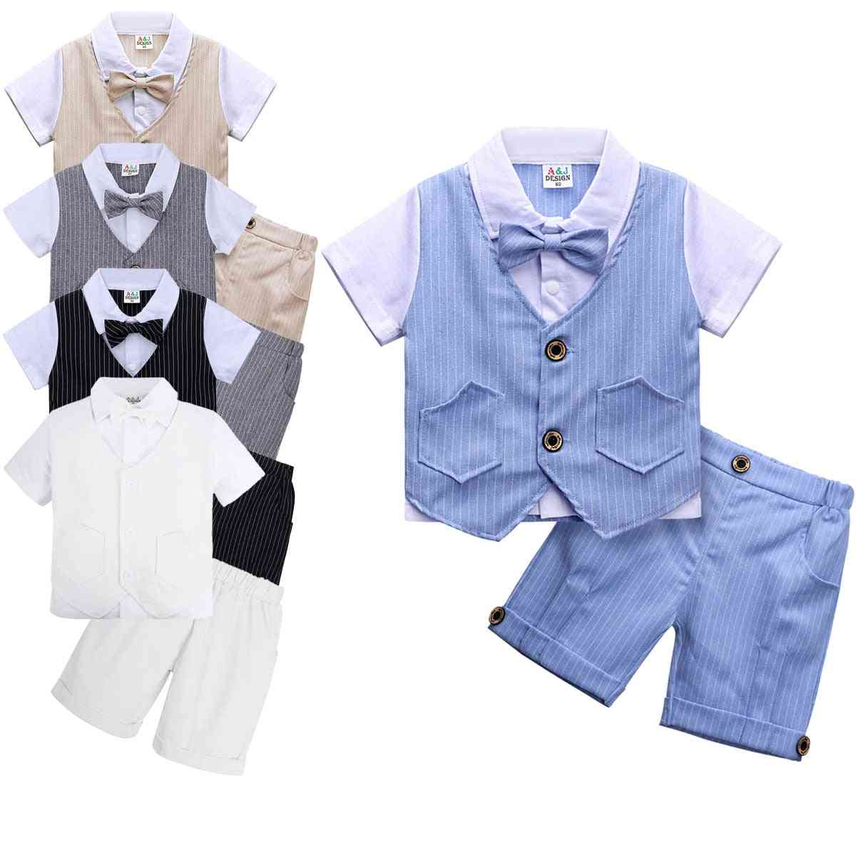 Baby Clothing Set Infant Gentleman Outfit Top