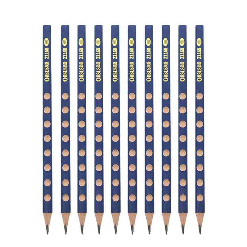 10's Environmental Protection Hb / 2b Triangle Pencil Painting Writing Standard Pencil Posture Correction Grip Pencil