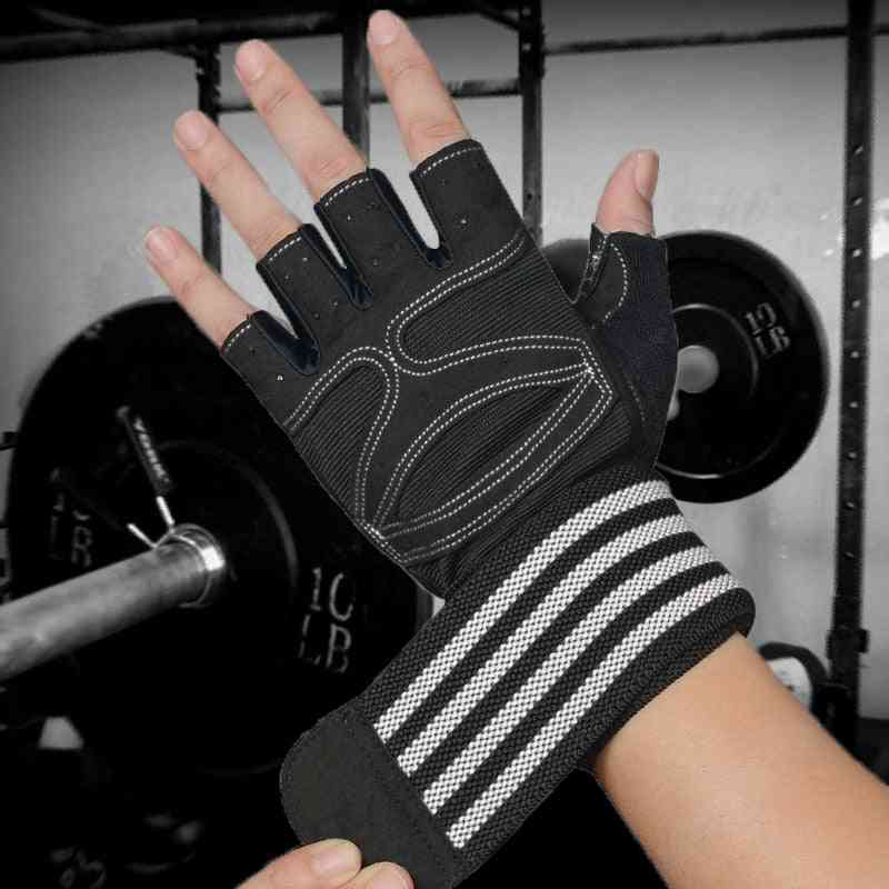 Unisex Workout Barbell Gym Fitness Weightlifting Gloves With Wrist Support