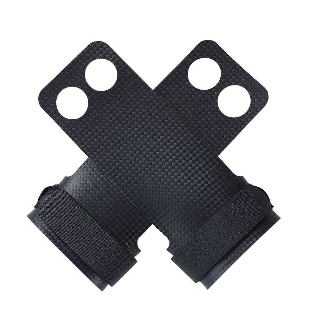 2-hole Carbon Crossfit Grip For Weightlifting Gym Workoutfor Kettlebell Pull-ups Gymnastics