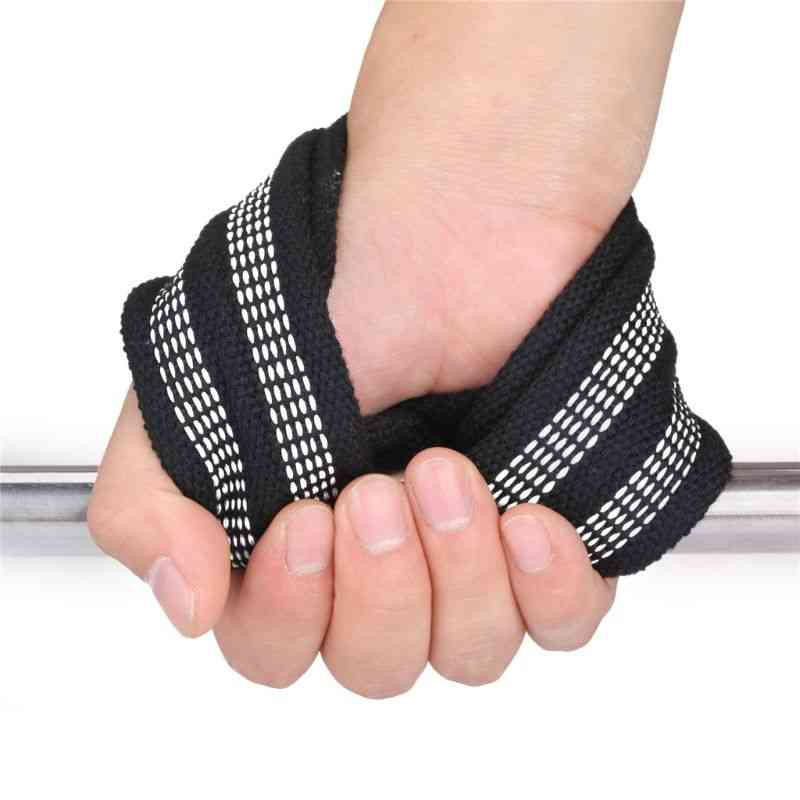1pair Figure 8 Weight Lifting Straps Deadlift Wrist Strap For Pull-ups Horizontal Bar Powerlifting Gym Fitness Bodybuilding Equi