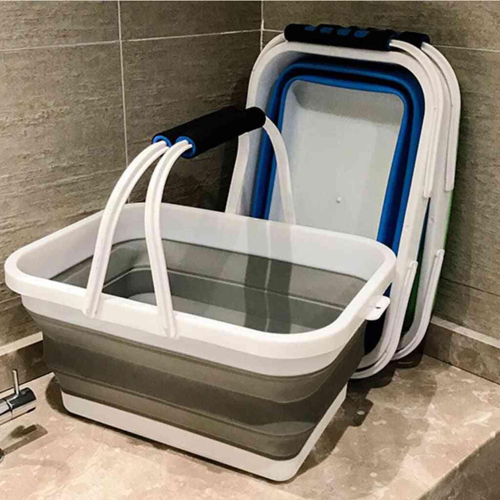Kitchen Laundry Storage Basket Basin Cleaning Tools