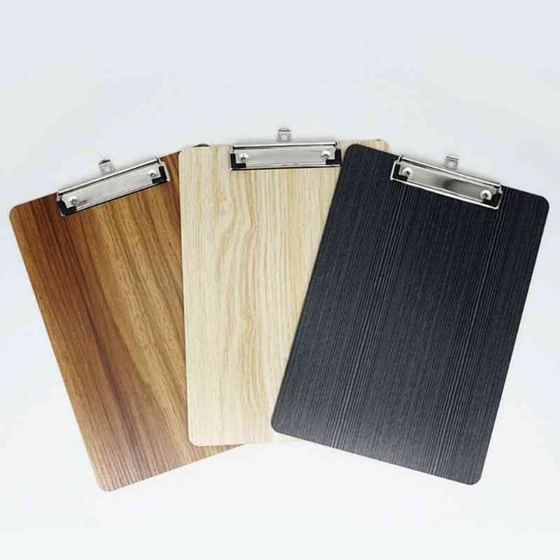 Portable Wooden Writing Clipboard