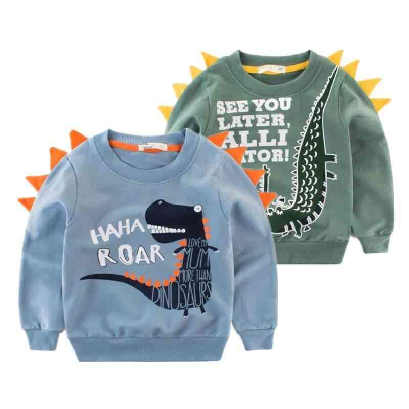 Clothing Printed Cartoon Animal Clothes  Baby Dinosaur Sweatshirt