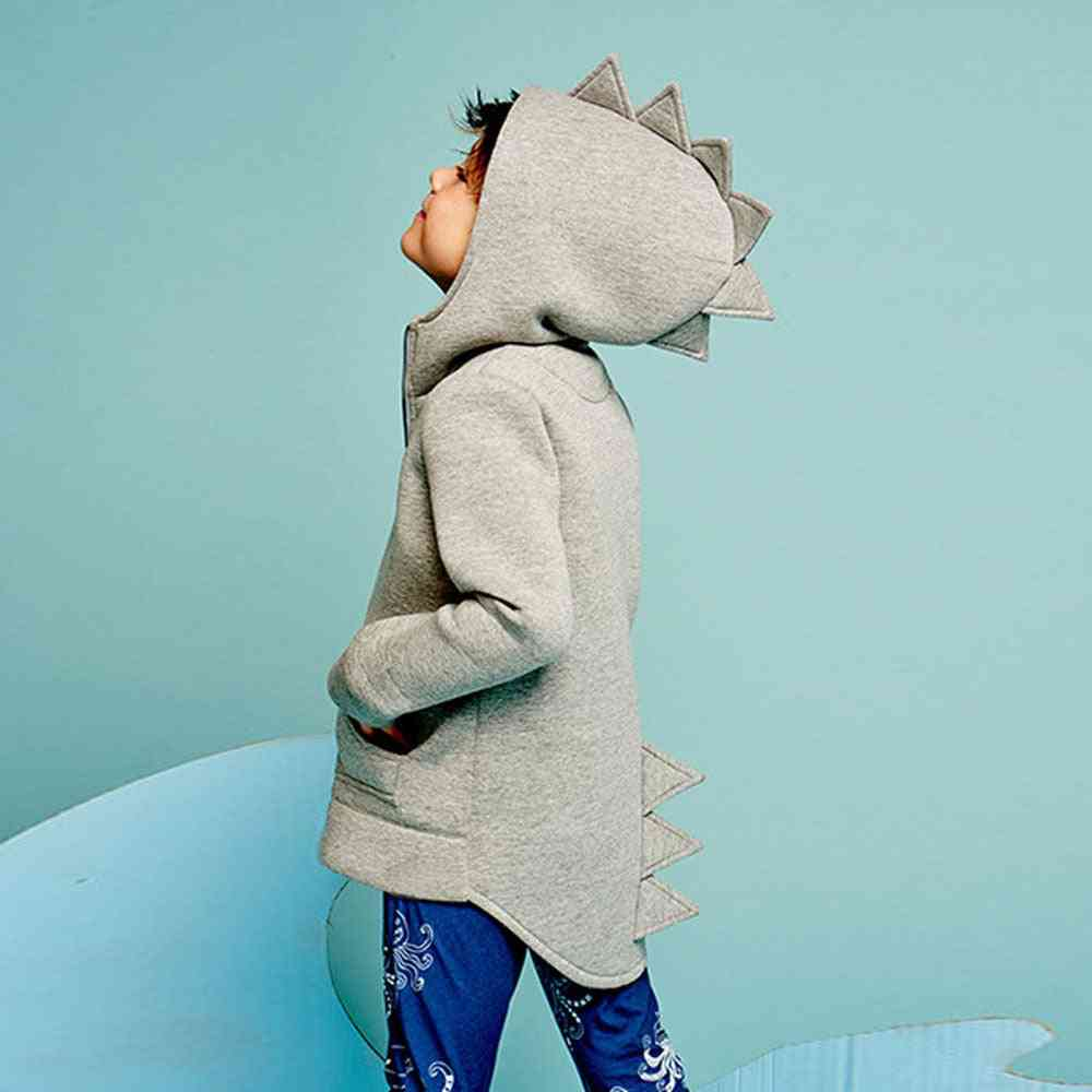 Newborn Kid Baby Boy Dinosaur Clothes Sleeve Hoodies Top Dinosaur Jacket