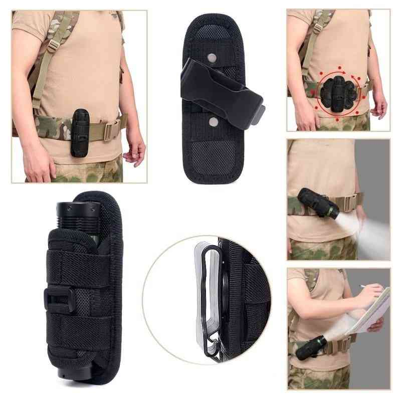 Flashlight Pouch Holster Torch Case For Belt Torch Cover.