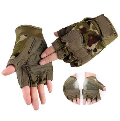Men's Tactical Sports Fitness Weight Lifting Gym Gloves