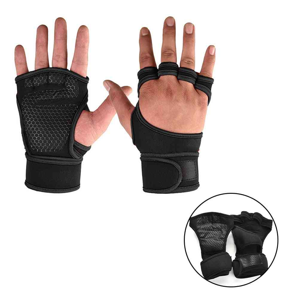 Weight Lifting Fitness Gloves Gel Full Palm Protection Gym.