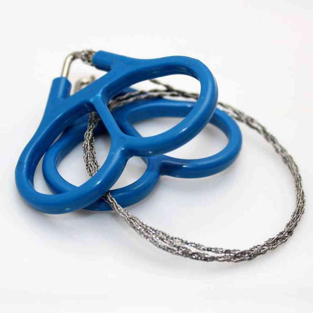 Field Survival Stainless Wire Saw Hand Chain Saw Cutter.