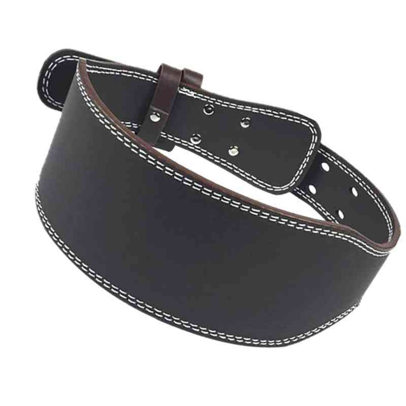 Leather Weightlifting Belt Gym Fitness  Powerlifting Back Support.