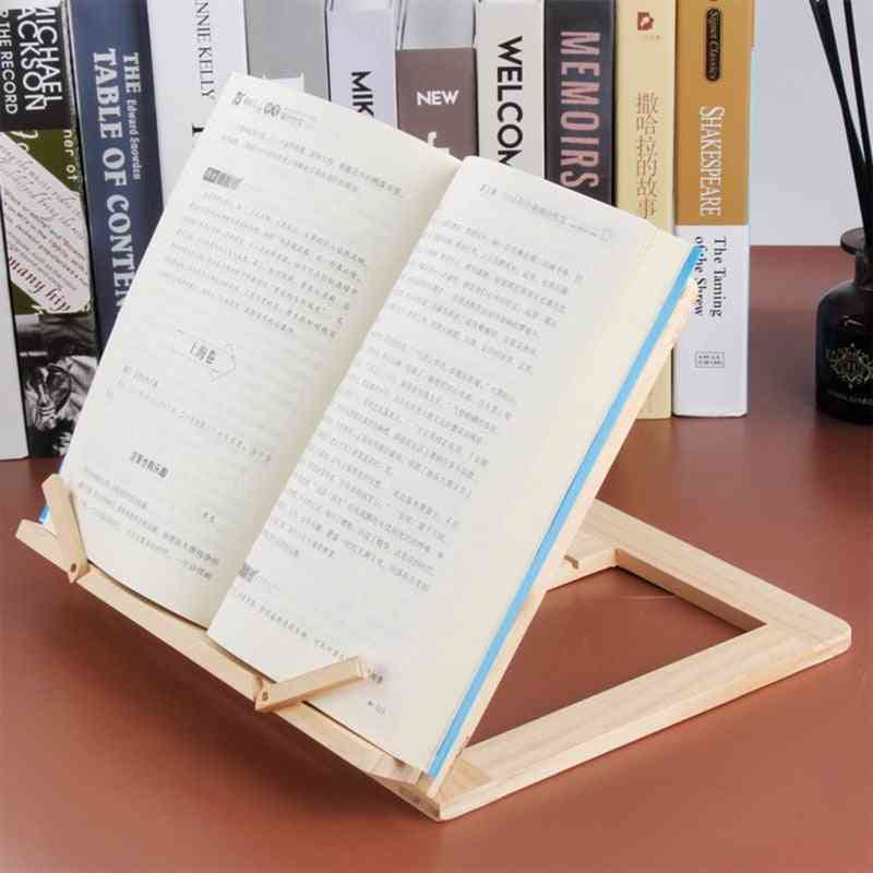 Foldable Wood Bookends Stand Cookbook Holder