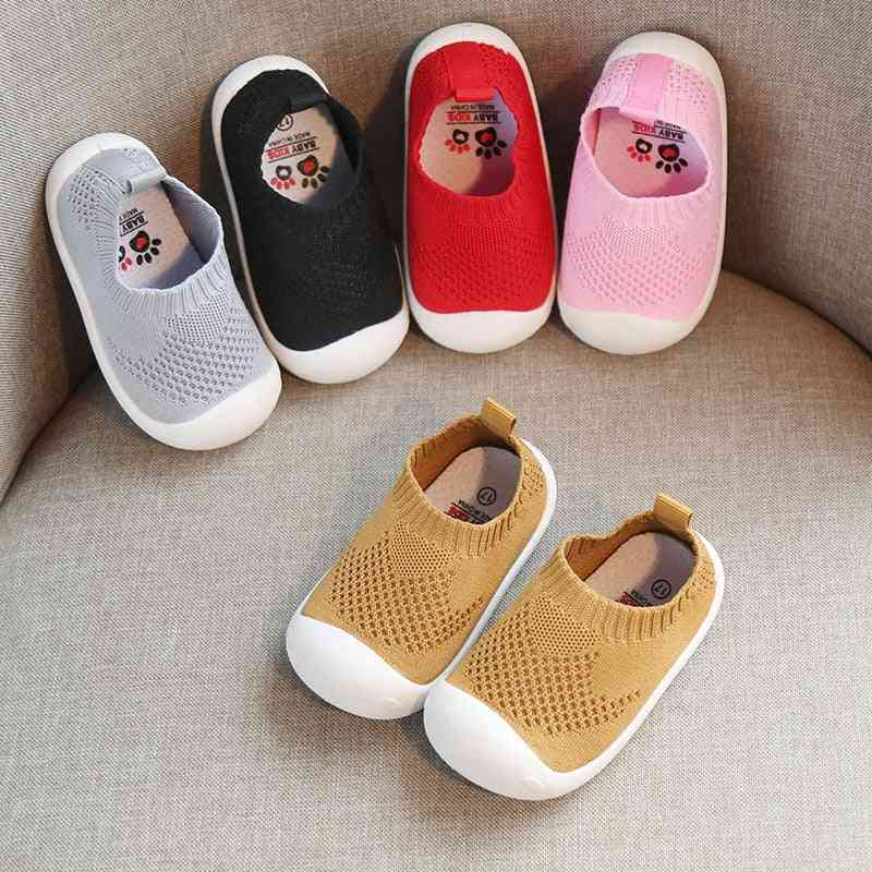 Kid Baby First Walkers Shoes Breathable Infant Toddler Shoes Boy Casual Mesh Shoes Soft Bottom Comfortable Non-slip Shoes