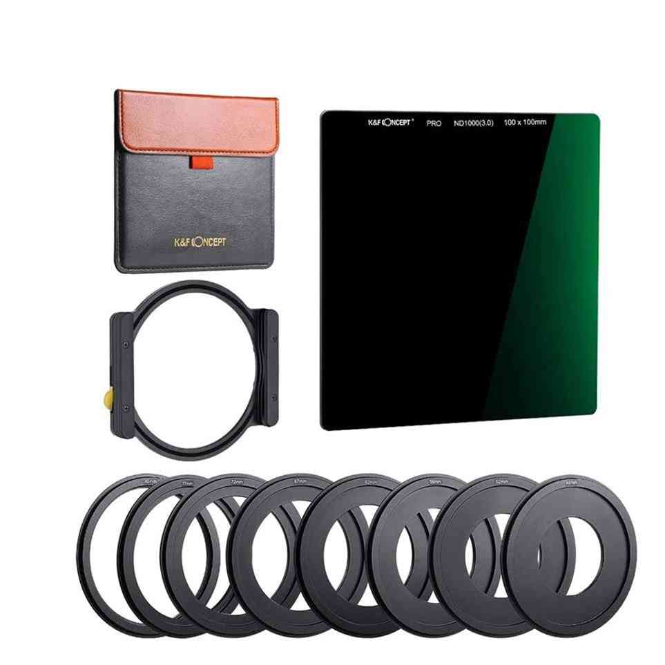 Square Filter Multi-coated Neutral With One Filter Holder 8pcs Filter Ring Adapters
