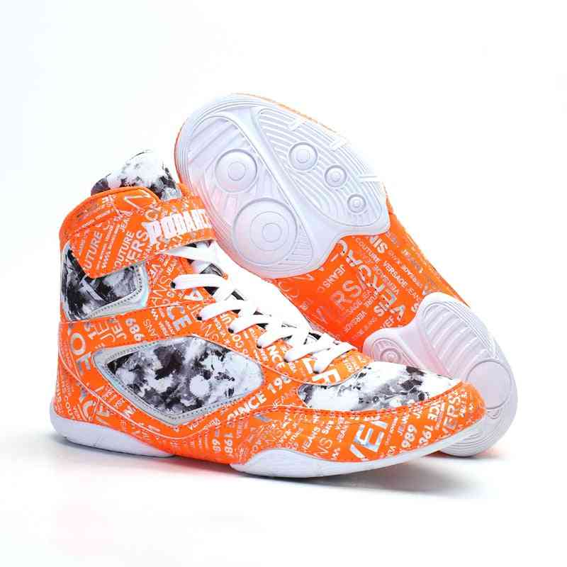 New Boxing Shoes, Men Luxury Light Weight Boxing Shoes