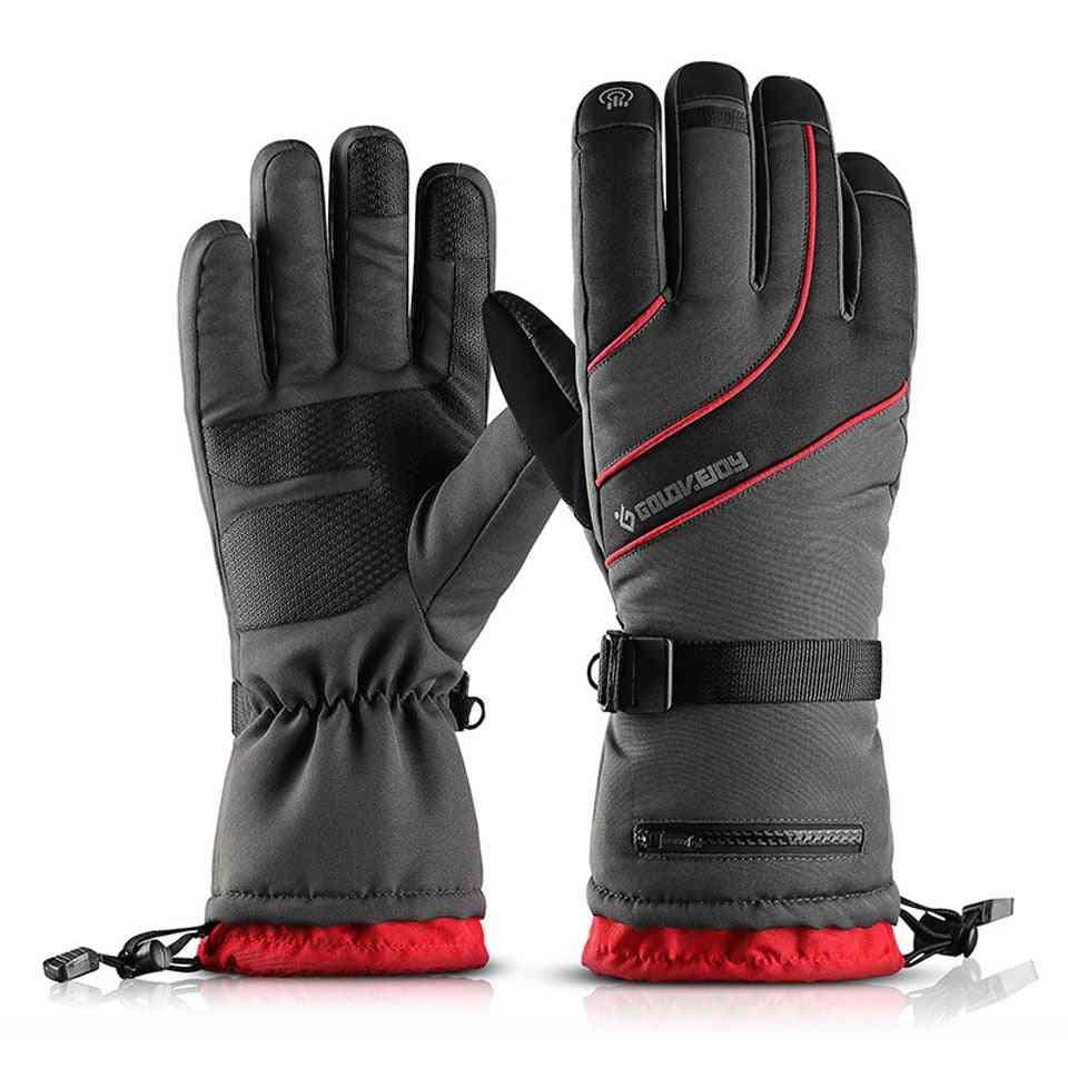 Women Men Warm Snowmobile Motorcycle Touch Screen Snowboard Ski Gloves