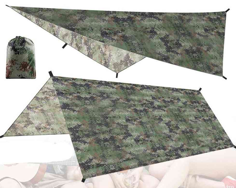 Portable Camouflage Camping Awning Waterproof Canopy Tarp Tent
