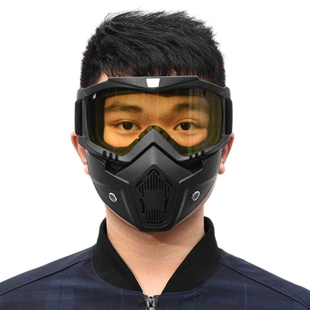 Winter Snow Sports Ski Snowboard Motorcycle Full Face Mask Shield Goggles