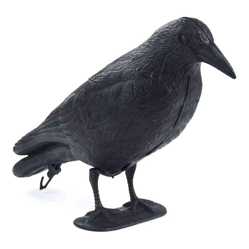 Fake Crow Decoy Garden Bird Deter Scarer Scarecrow Pest