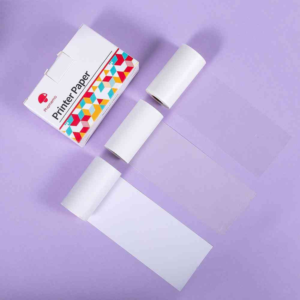 3 Rolls Mixed Transparent Sticker Thermal Paper