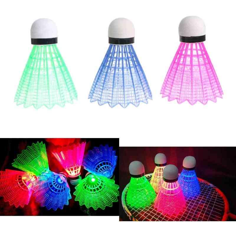Glowing Light Up Plastic Badminton Shuttlecocks