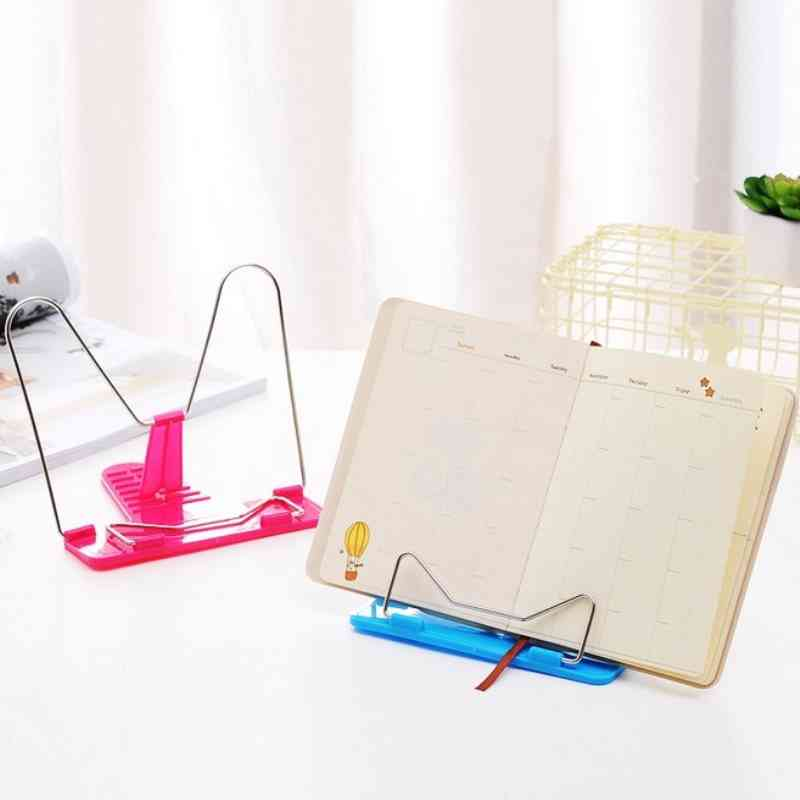 Portable Foldable Adjustable Bookend Stand Reading