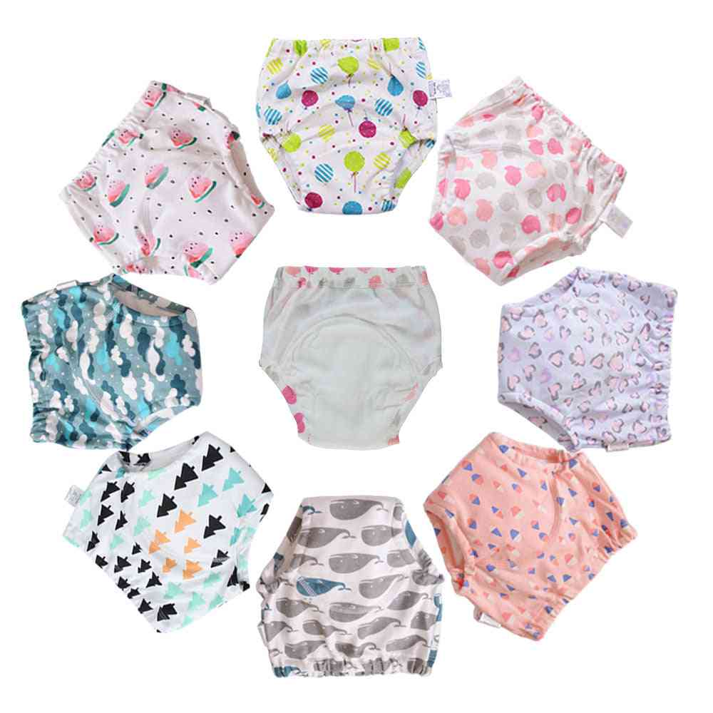 Cotton Reusable Washable Baby Training Pants Underwear Cloth Diaper Nappies