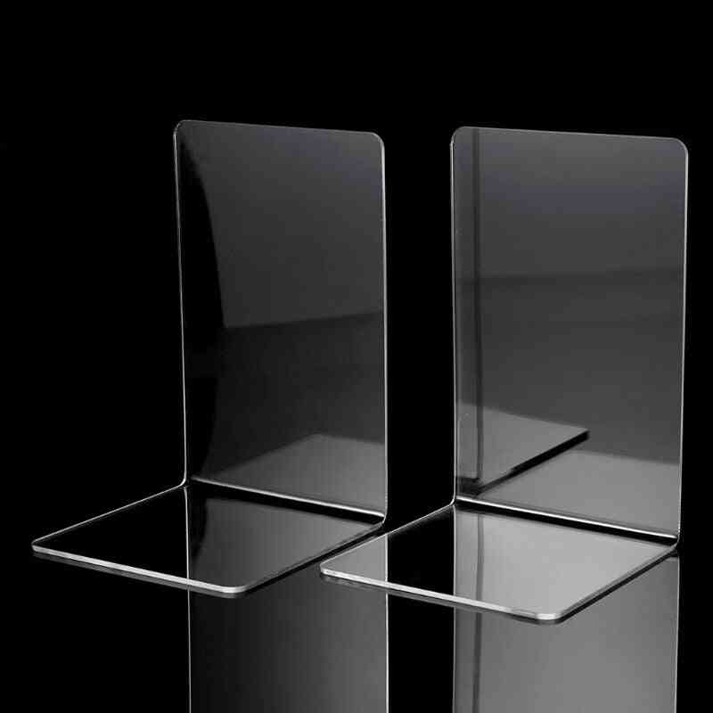 Clear Acrylic Bookends L-shaped Desk Organizer