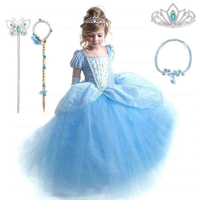 Cosplay Kids Clothes. Baby Girl Ball Gown Princess Dresses