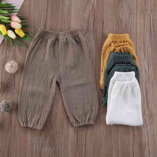 Baby Pants Wrinkled Cotton Vintage Bloomers Trousers
