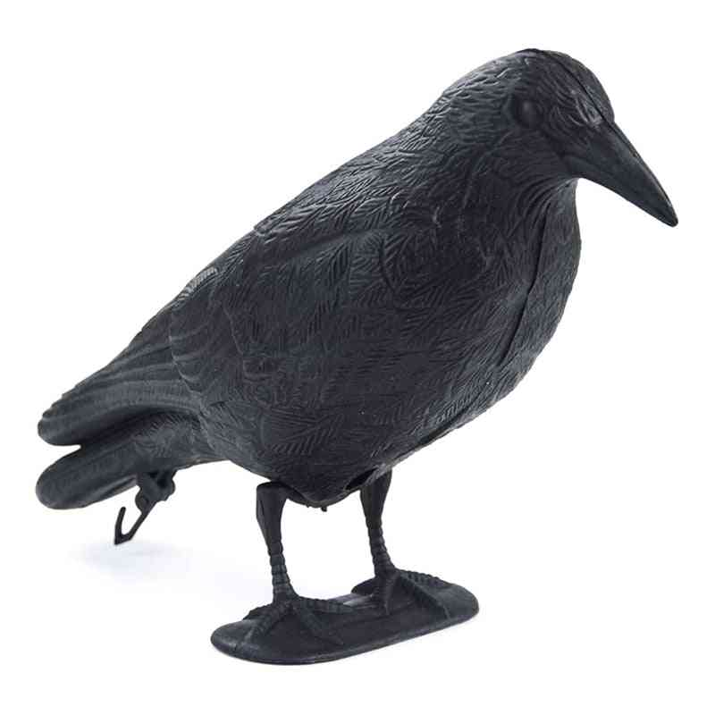Fake Crow Decoy Garden Bird Deter Scarcer