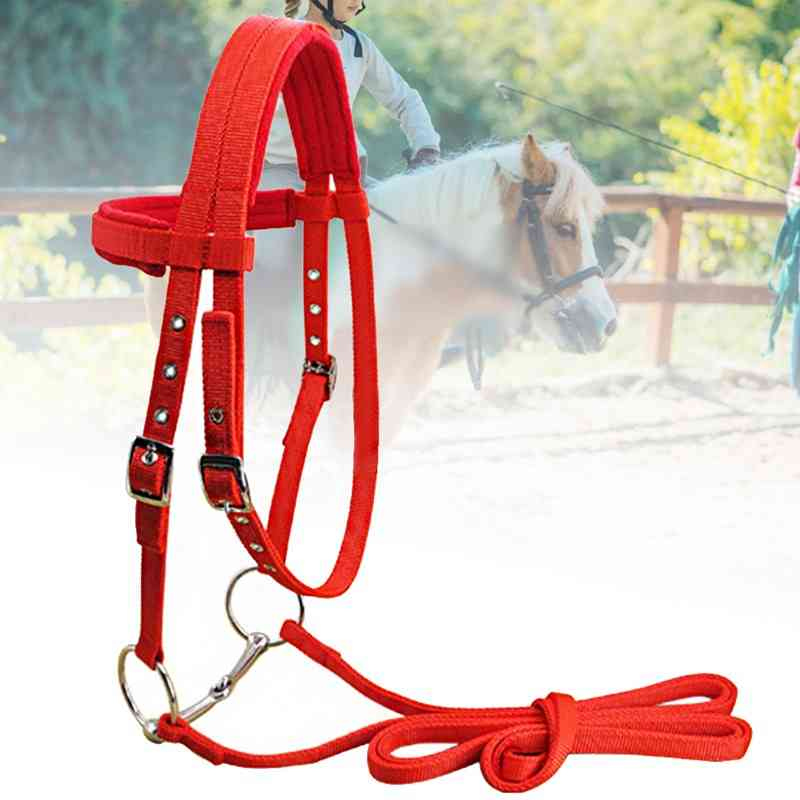 New Soft Winter Throat Snap Competition Fleece Sports Adjustable Strap Bridle Riding Equipment Rein Belt Horse Halter With Bit