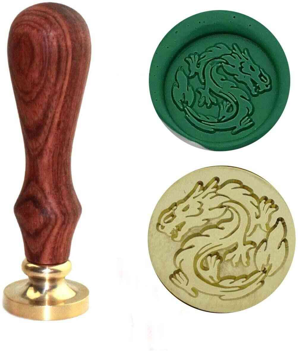 Brass Head With Wooden Handle (dragon)