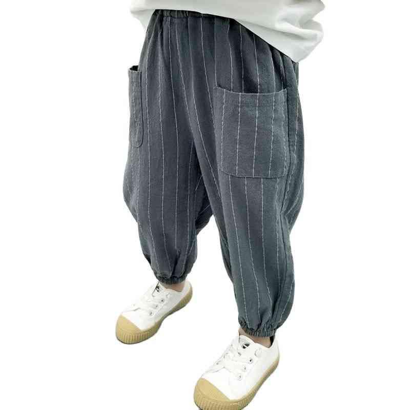 Pants Summer Striped Pants's Cotton Anti Mosquito Pants