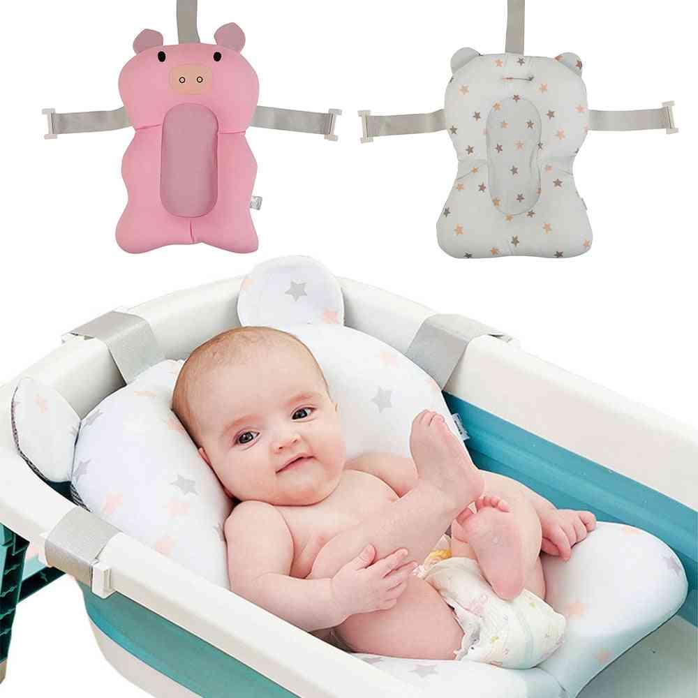 Infant Baby Bath Pad Newborn Shower Portable Air Cushion Bed