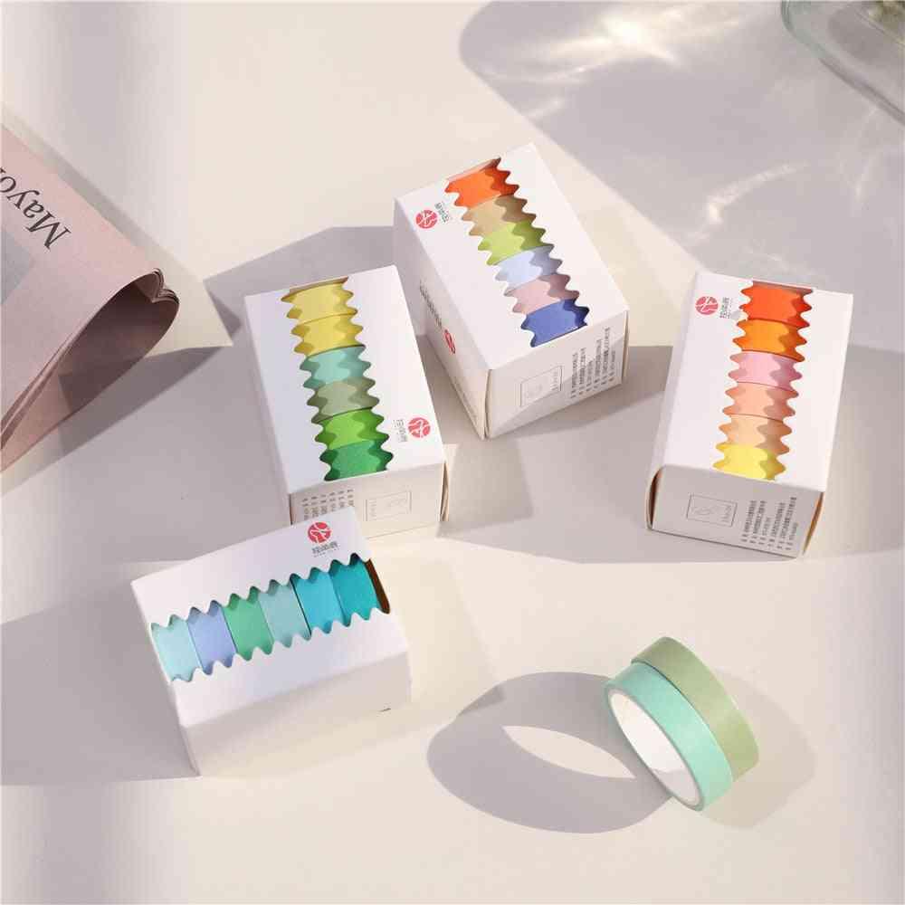 Color Paper Masking Tape Set Adhesive Label Sticker