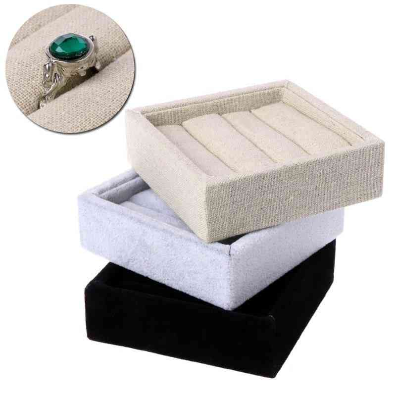 Jewelry Earring Ring Display Box Tray Holder